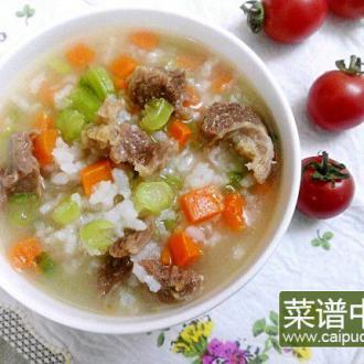 春菜牛肉粥