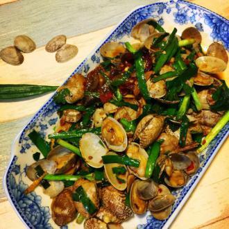 韭菜炒花甲