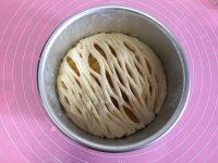 面包机版黄桃面包派的做法步骤12