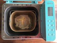 面包机版黄桃面包派的做法步骤1