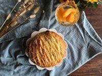 面包机版黄桃面包派的做法步骤20