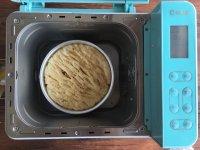 面包机版黄桃面包派的做法步骤16