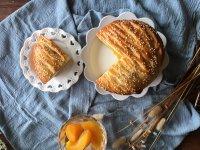 面包机版黄桃面包派的做法步骤22