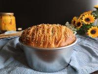 面包机版黄桃面包派的做法步骤18