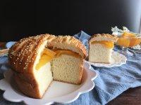 面包机版黄桃面包派的做法步骤21