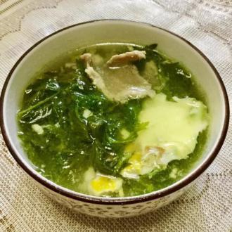艾叶肉片汤