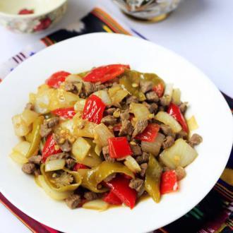 泡椒炒羊肉