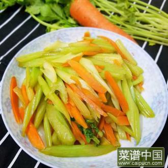 芹菜炒胡萝卜