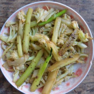 花菜白菜苔梗