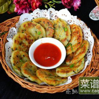 黑胡椒葱香土豆饼