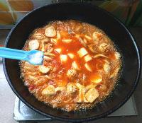 辣白菜杂锅的做法步骤10