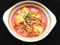 辣白菜杂锅的做法步骤14