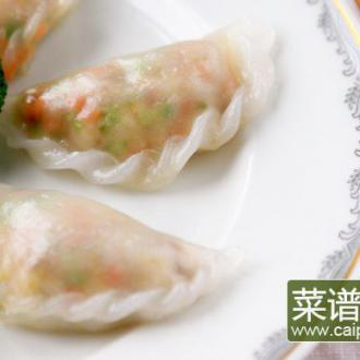 鲜虾蒸粉果
