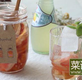 「蜂蜜西柚茶」清甜滋
