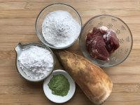酱肉笋丁青团的做法步骤1