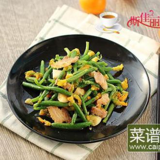 黄瓜花炒肉