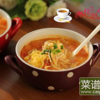 金针菇番茄蛋汤