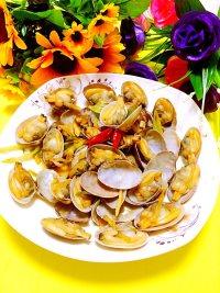 炒花蛤的做法步骤10