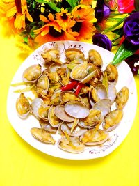 炒花蛤的做法步骤9