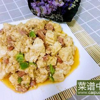 沙茶酱炒豆腐