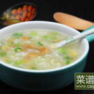 虾米干贝粥