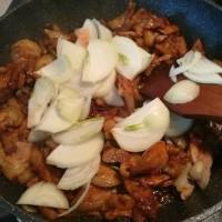洋葱炒肘子肉片的做法步骤7