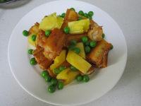 菠萝油条虾的做法步骤12