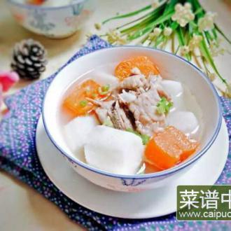 排骨胡萝卜山药汤