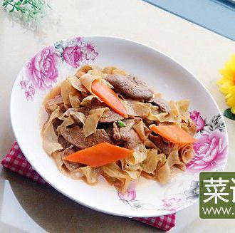 猪肝炒豆皮