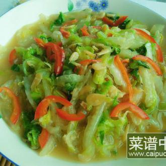 虾皮炒白菜