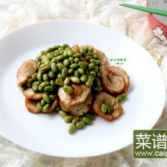 潮汕粿肉炒毛豆