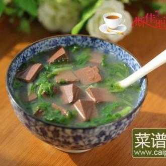 萝卜缨鸭血汤