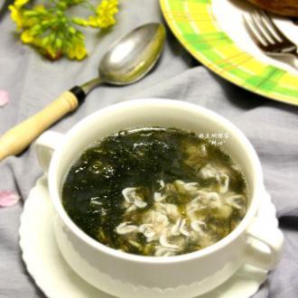虾苗紫菜汤