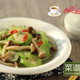 蟹味菇炒丝瓜