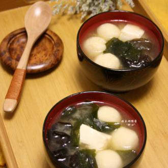 潮汕鱼丸味增汤