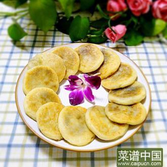 土豆豆沙糯米饼