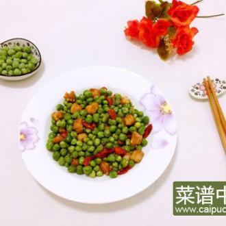 豌豆枸杞炒肉