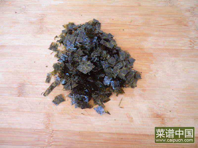 海苔炒饭的做法步骤2