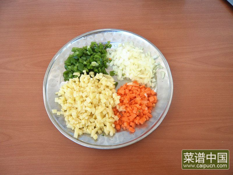 海苔炒饭的做法步骤3