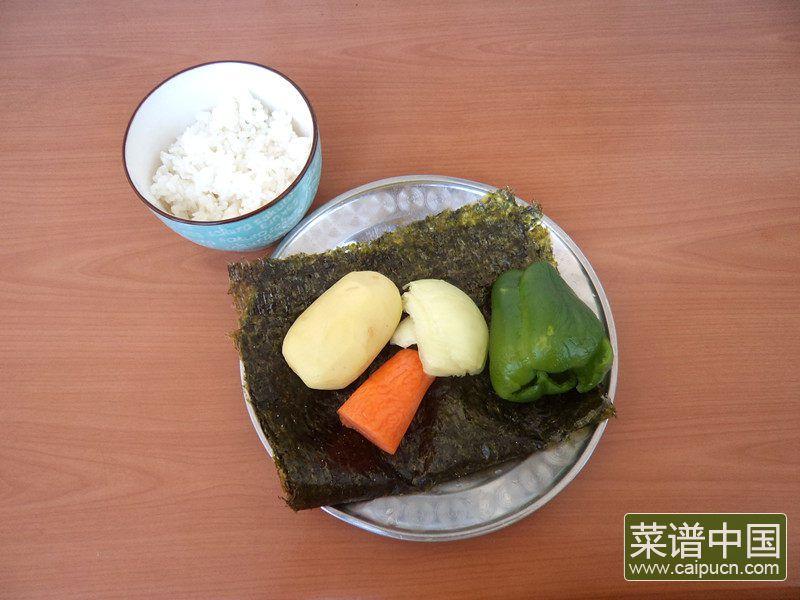 海苔炒饭的做法步骤1