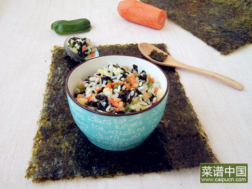 海苔炒饭的做法步骤10
