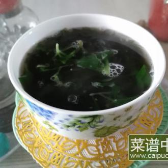 紫菜鸡毛菜汤