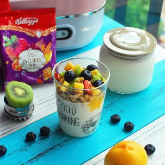 杂锦水果谷物酸奶