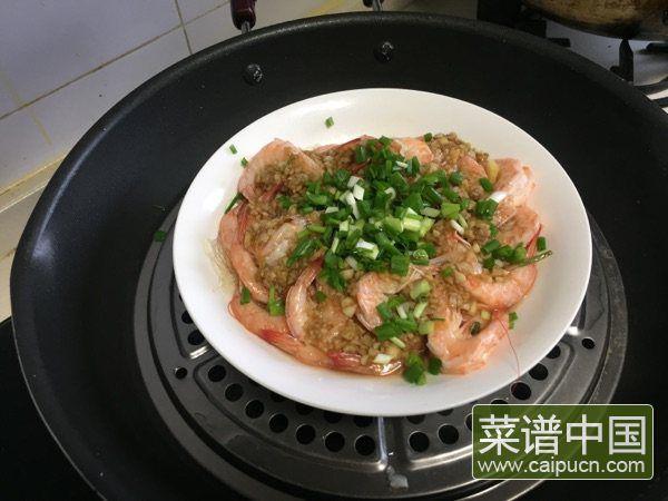 蒜蓉粉丝蒸虾的做法步骤11