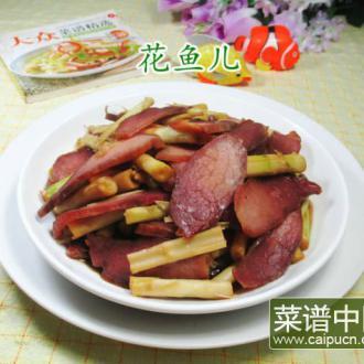 野山笋炒酱肉