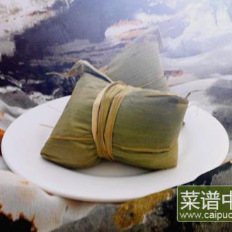 豆沙红枣粽子