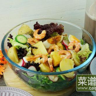 虾仁土豆沙拉早餐