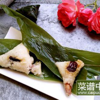 红枣花生粽子