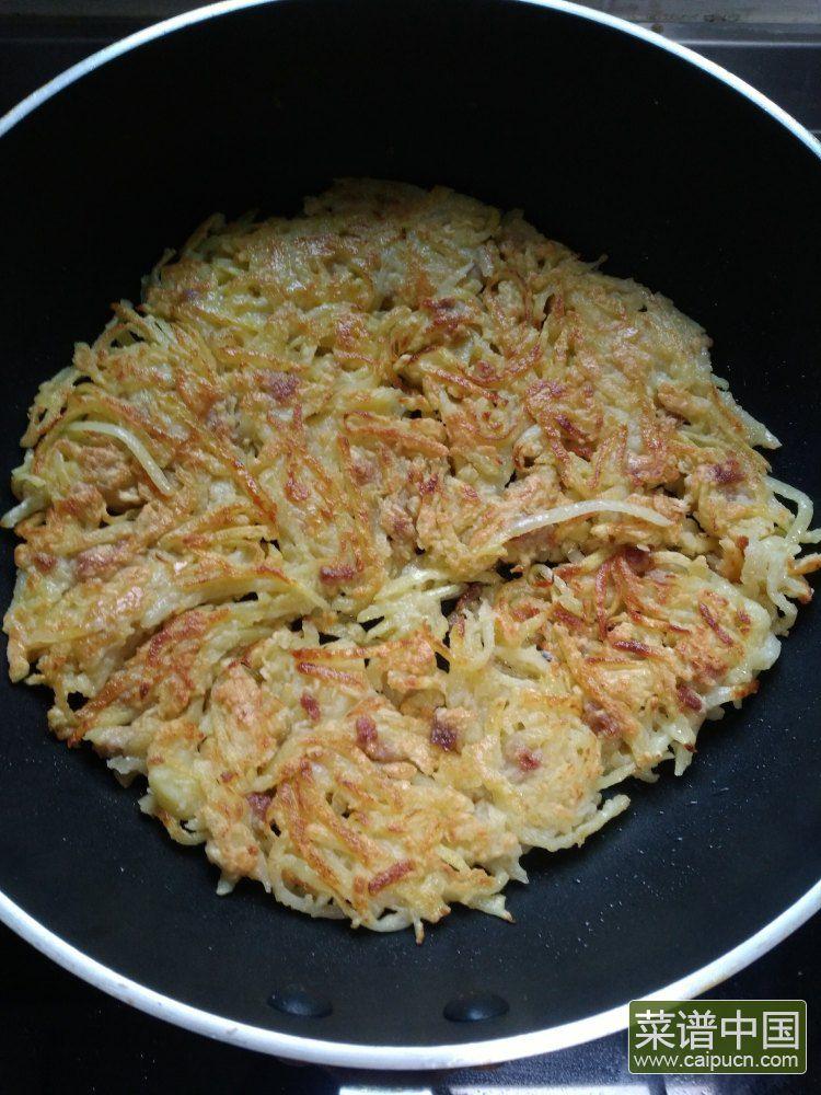 肉丁土豆饼的做法步骤8