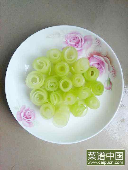 凉拌莴苣卷的做法步骤4